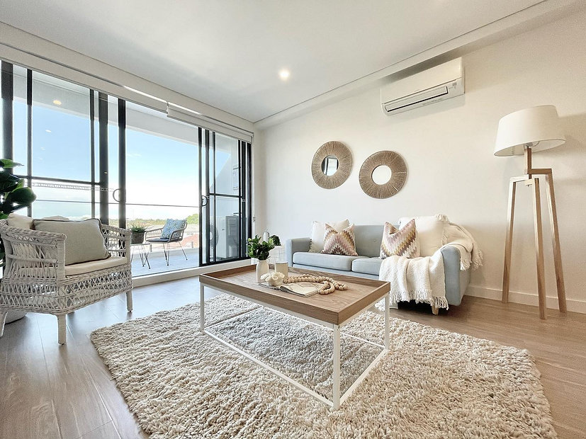 lounge styling Sydney. Top Floor Penthouse Apartment. Real estate home staging special dea