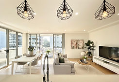 Property Styling Sydney. Open living and dining room staging. Dress your home