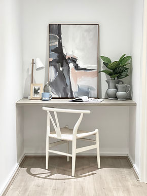 Office study nook styling. Ensure every space in your home is utilised and showcased the right way.