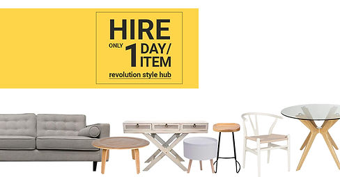 Hire for 1 day plus diy furniture hire.j