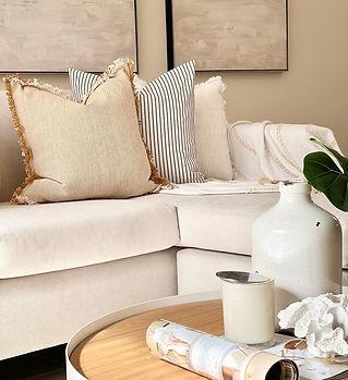 Lounge styling Sydney. Property styling