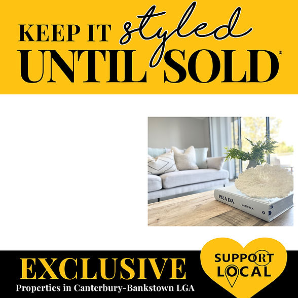 keep it styled until sold home styling and property staging package deal. Revolution Style