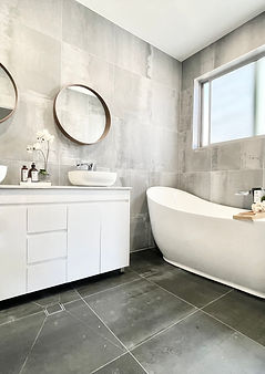 Kellyville home staging Sydney. Hills district staging to sell. Bathroom property styling.