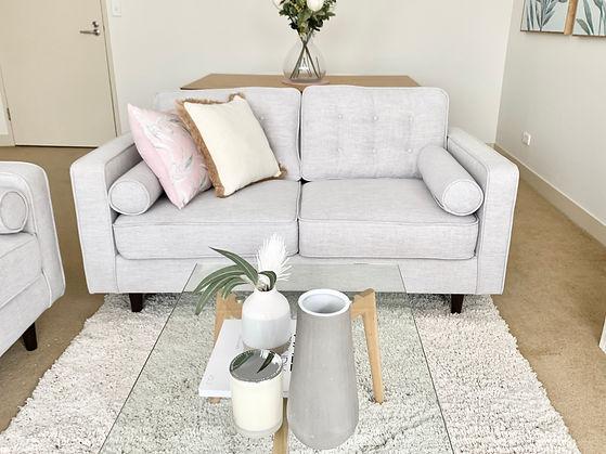 Lounge property styling service Sydney