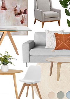 Home styling mood board. Property staging ideas and concepts to sell your home.