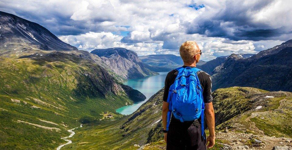Noruega, Montañas, Al Aire Libre, Personas, Paisaje
