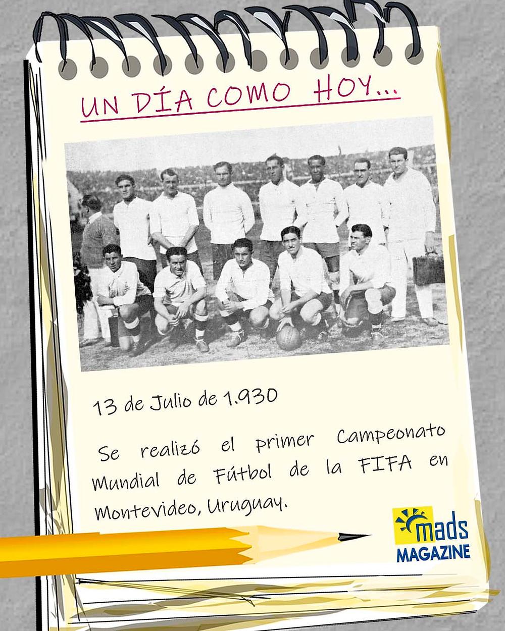 El 13 de julio de 1930 se celebró la final del primer campeonato de fútbol de la FIFA