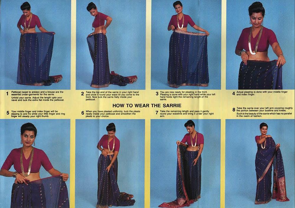 Resultado de imagen para como ponerse un sari