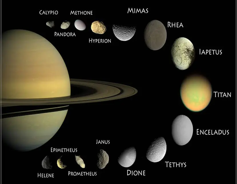 Un planeta tan sorprendente como Saturno tiene más de 50 lunas. Este lunes 2 de agosto podrás ver algunas de ellas con tus prismáticos o un telescopio pequeño