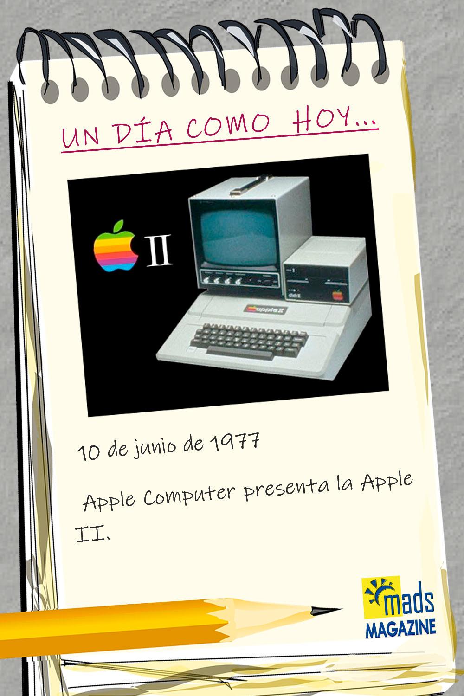 """El 10 de junio de 1977 Apple Computer presentó la Apple II. Era uno de los primeros ordenadores """"personales"""" de la época"""