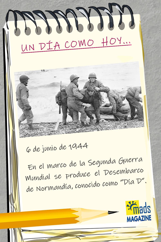 El día D tuvo lugar el desembarco de Normandía durante la segunda guerra mundial. Representó el cambio definitivo en el curso de la historia de Europa y del mundo