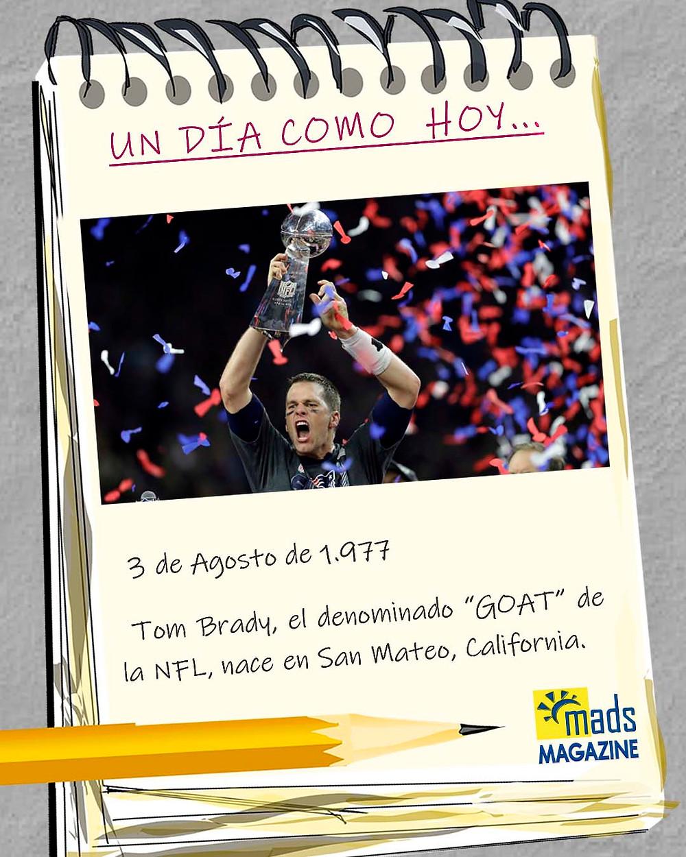 El 3 de agosto de 1977 nacía Tom Brady en San Mateo
