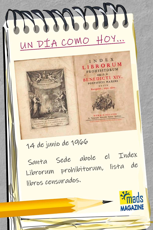 Tras muchos siglos de censura, la Iglesia Católica abolió el Index Librorum Prohibtorum hace 45 años