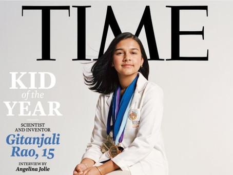 """Gitanjali Rao… elegida la primera """"Niña del año"""" por TIME's por su contribución a la ciencia"""