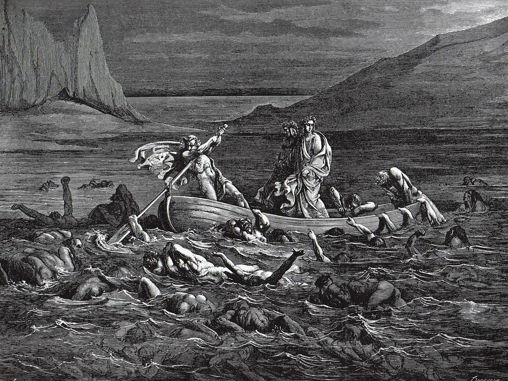 Dante sintió pavor al ver el lago del alma