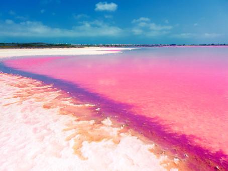 El lago de origen australiano que cambia de color