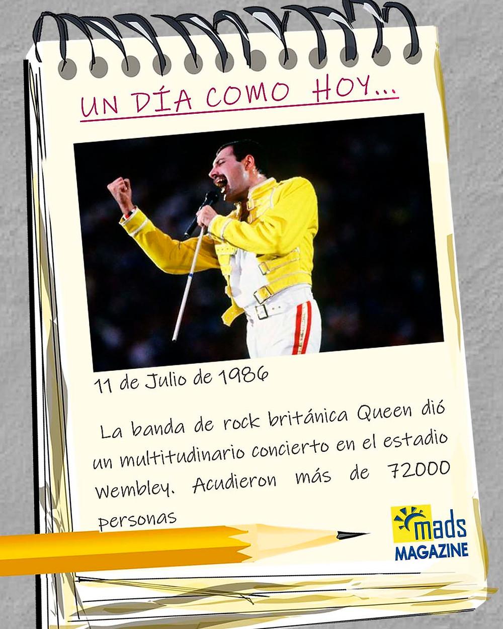 El concierto del estadio de Wembley fue uno de los más multitudinarios de la historia de la música. Tuvo lugar el 11 de julio de 1986