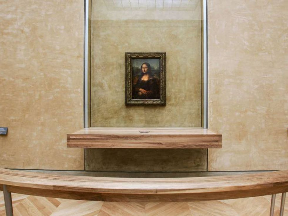 El cuadro estaba protegido tan solo por una pequeña urna de cristal