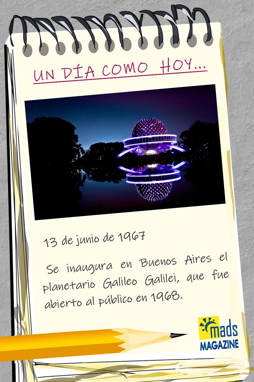 El Planetario Galileo Galilei, localizado en Buenos Aires, es uno de los mayores centros astronómicos del país. ¡No te lo puedes perder!