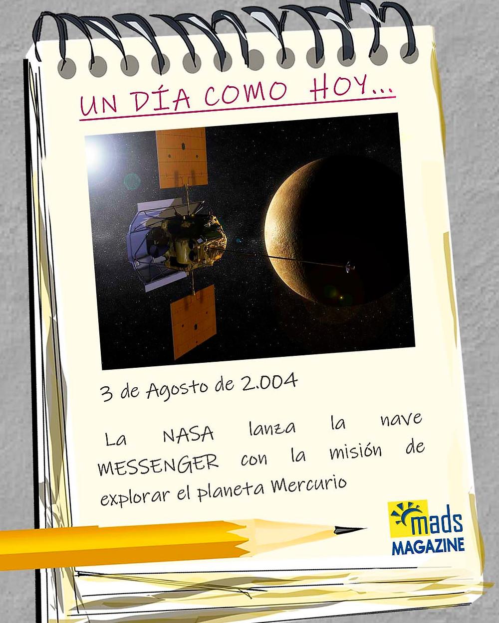 El 3 de agosto de 2004 Messenger partió rumbo a Mercurio
