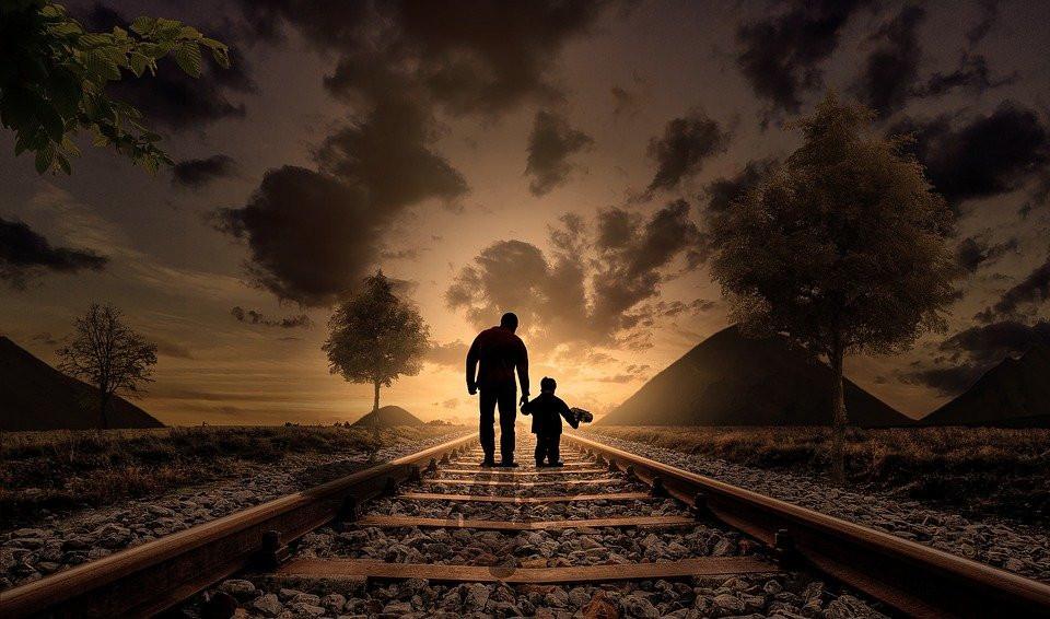 Padre E Hijo, Caminar, El Amor, Niño, Alegría