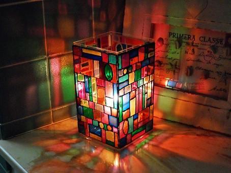 Lámparas con frascos de vidrios