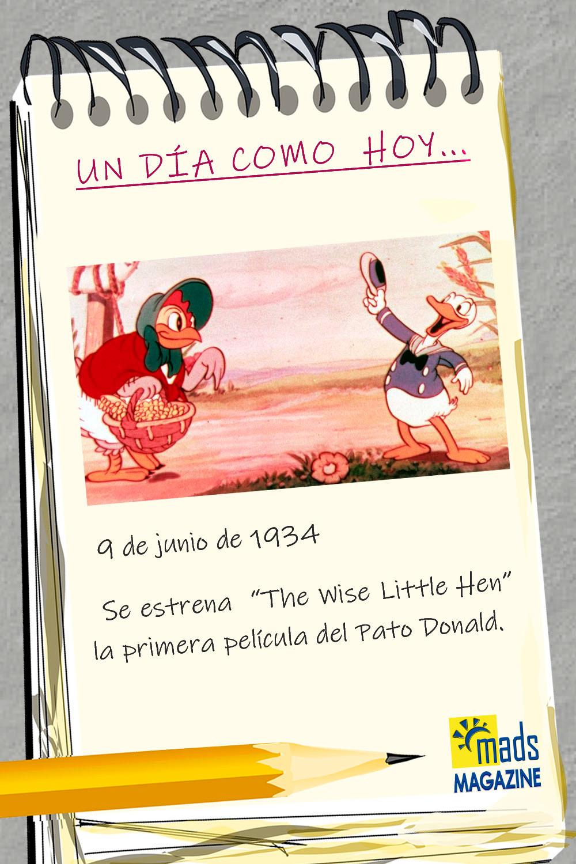El pato Donald es uno de los dibujos animados a los que todos guardamos con gran cariño en nuestro corazón. ¡Su primera película se estrenó hace 87 años!
