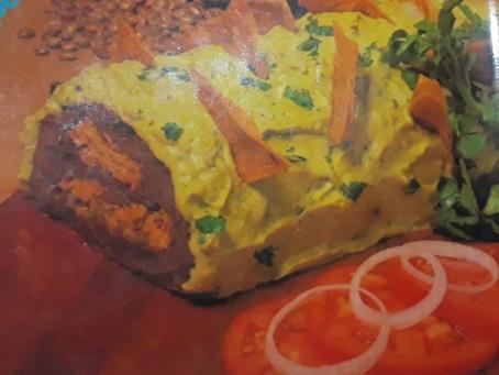 Rollo de frijoles, atún y queso de Chepina