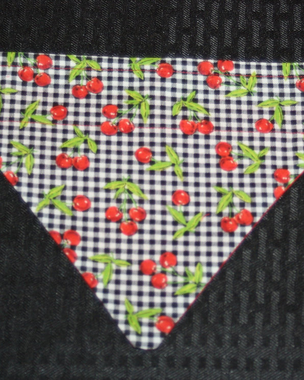 Cherry Jubilee Bandana Slip On Collar