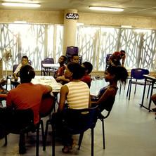 Teaching at Fé y Alegría.