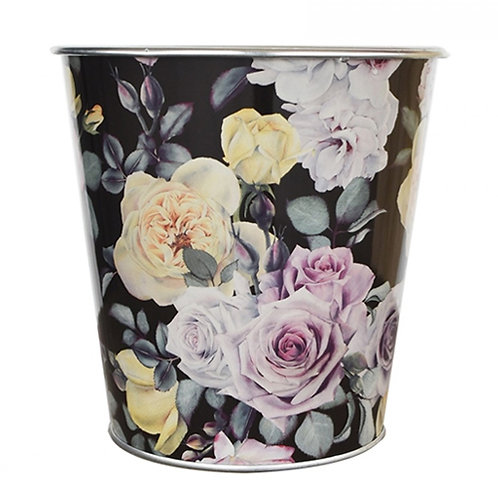 Tin Floral Black
