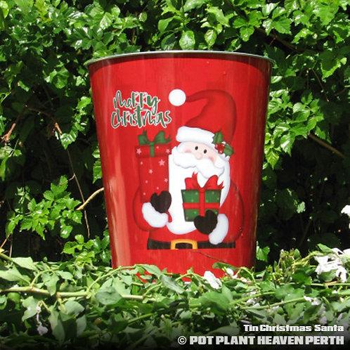 Tin Christmas Santa