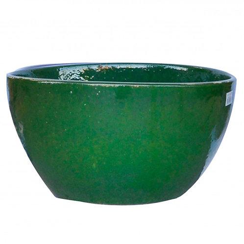 Bowl Planter, Olive Green