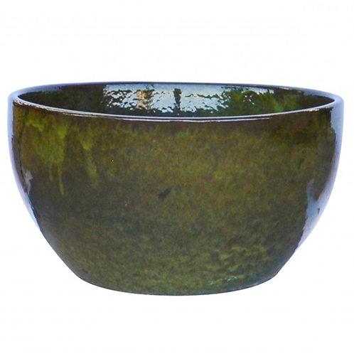 Bowl Planter, Jade Black