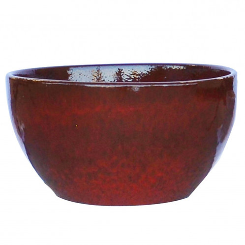Bowl Planter, Red Black