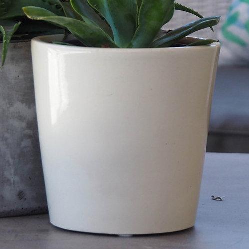 Round Pot VOT, White