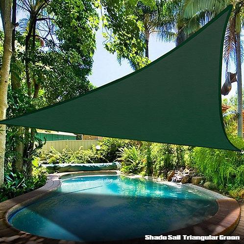 Shade Sail Triangular Green