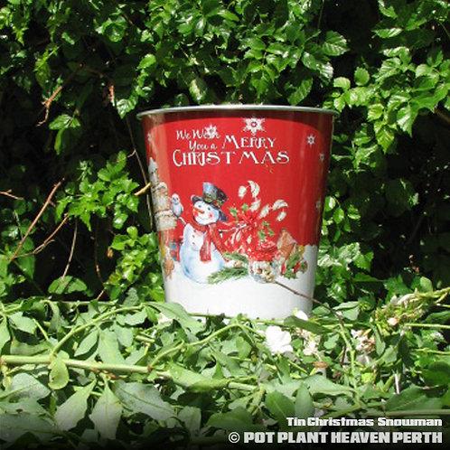 Tin Christmas Snowman