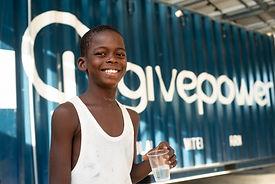 boy drinking water simple energy solar g
