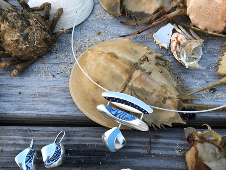Showing my jewelry and finding beach treasures in Wellfleet, MA