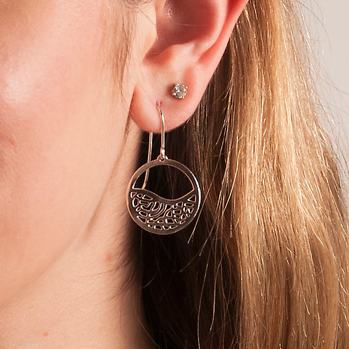 Moon Wave Earrings, small