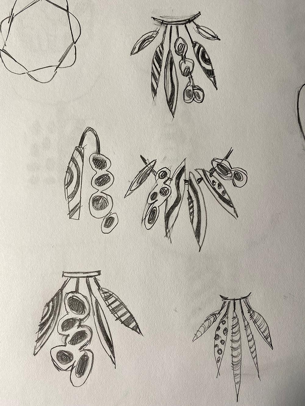 Nancy Marland Jewelry creative process.