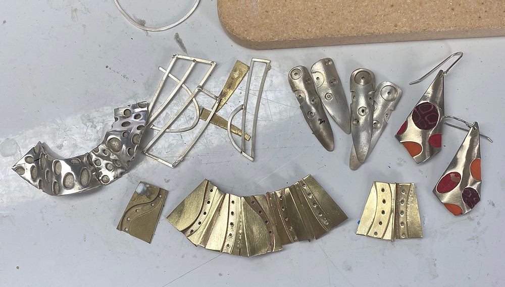 Nancy Marland Jewelry - what's on the bench