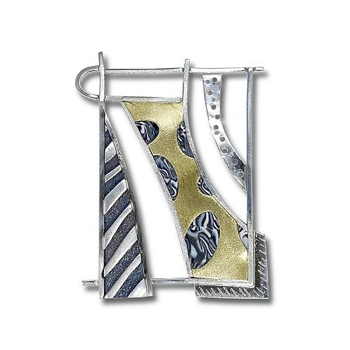 Silver & Brass Brooch