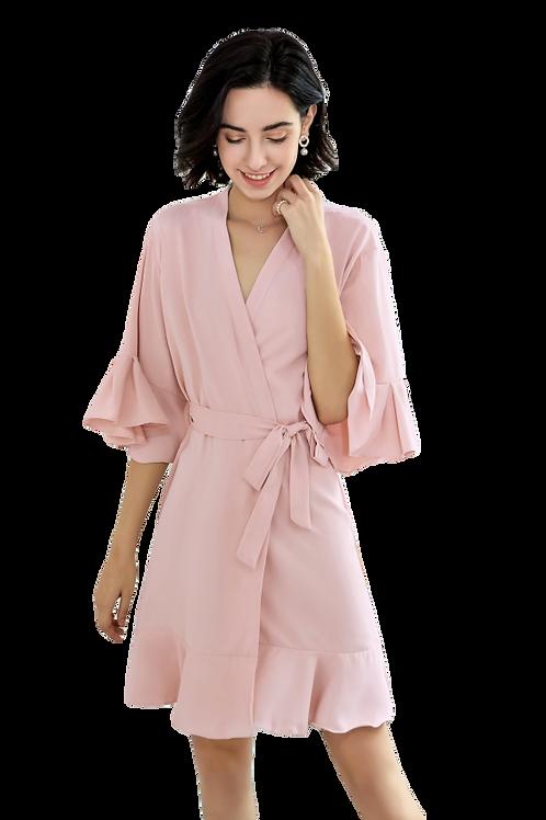 Ruffle Robe | Blank
