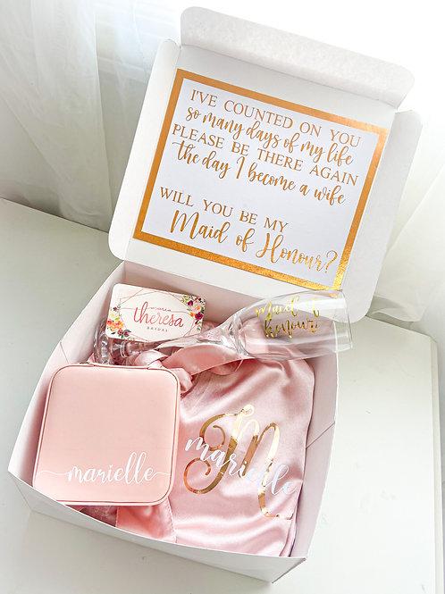 Maid of Honor Proposal Box