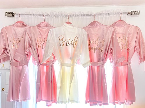 Personalized Custom Monogram Satin Robes Bride Bridesmaid Maid of Honor Proposal Gift Box Ideas Maria Theresa Bridal