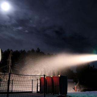 Nieve artificial en Manzaneda