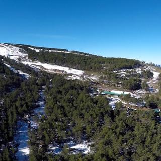 Foto aérea Pistas de Manzaneda.