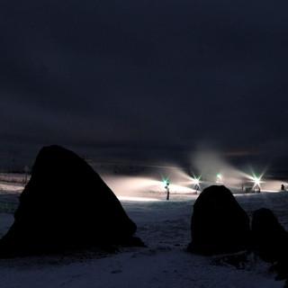 Cañones de nieve en Manzaneda